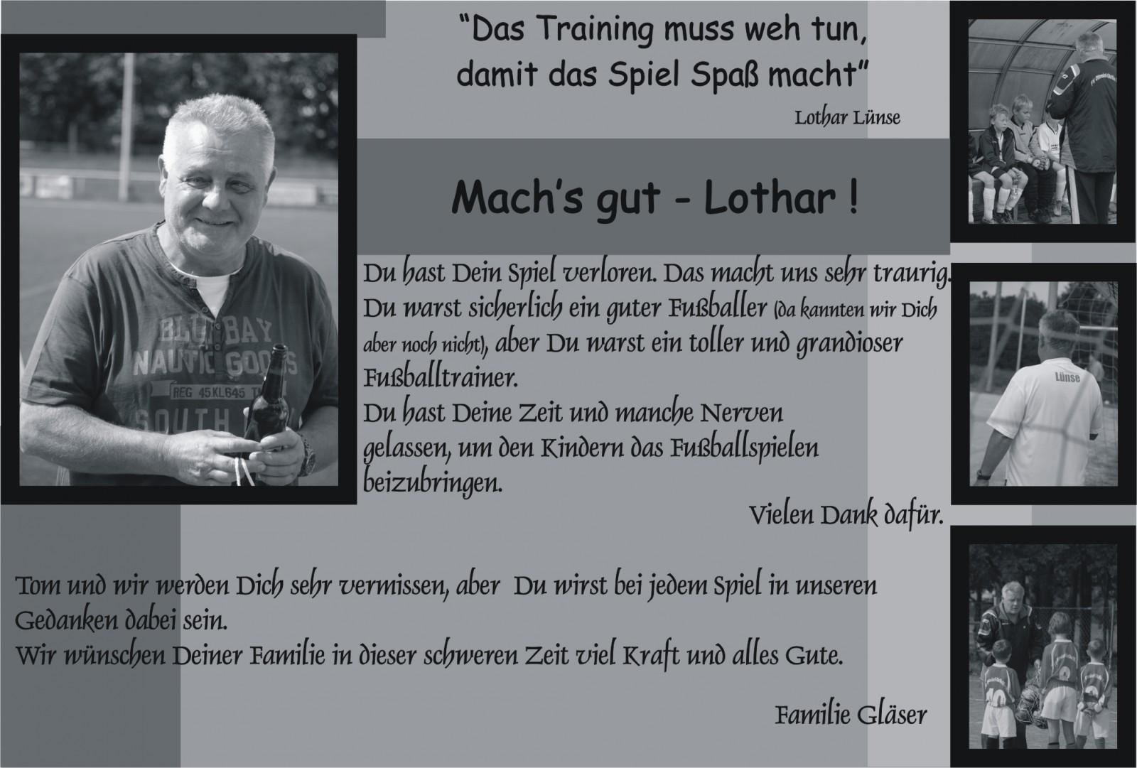 Abschied Lothar Lünse