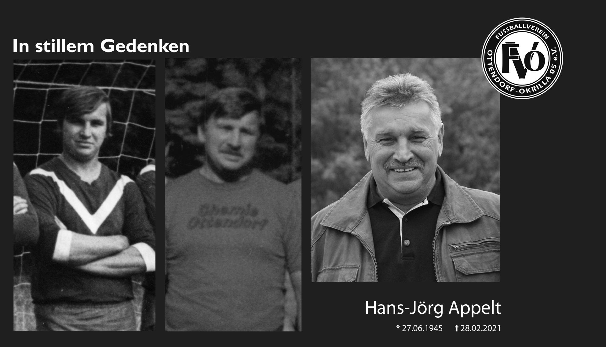 "Trauer um Hans-Jörg ""Hugo"" Appelt"